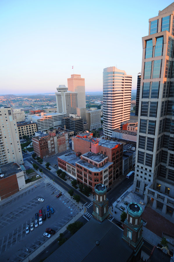 Cidade de Nashville imagens de stock royalty free