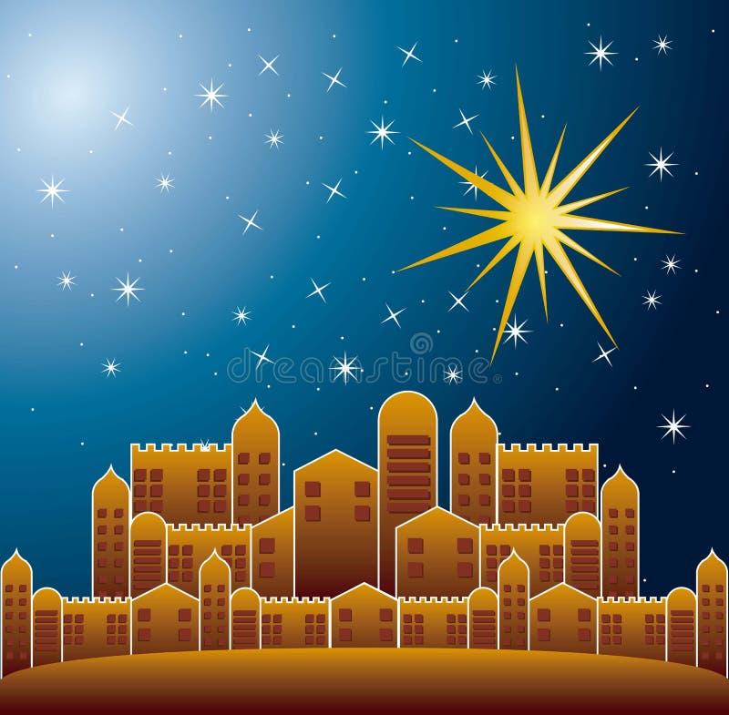 Cidade de Nazareth ilustração do vetor
