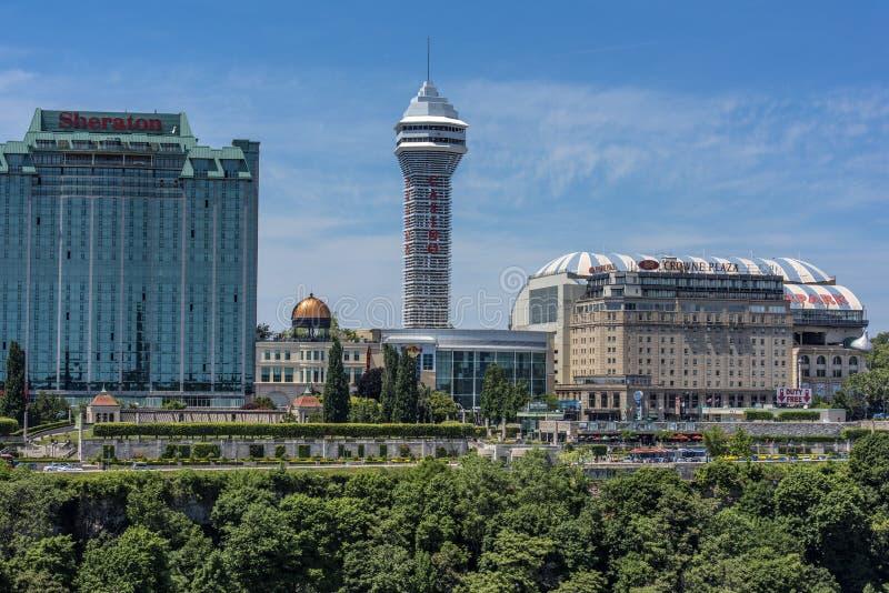 Cidade de Niagara Falls foto de stock royalty free