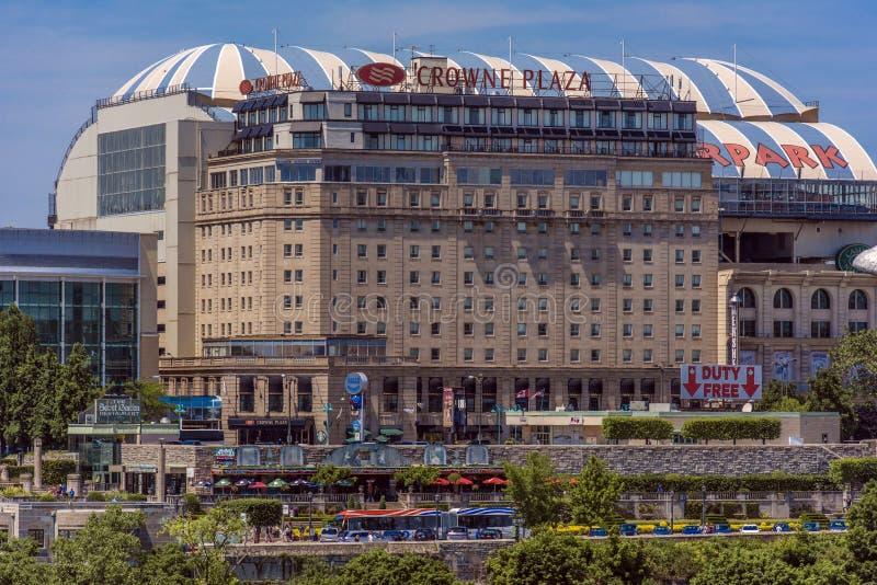 Cidade de Niagara Falls fotografia de stock