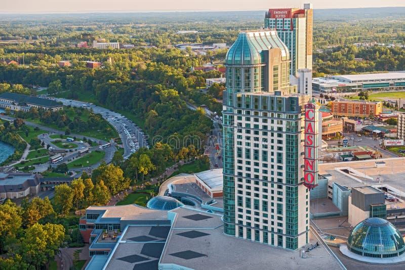 Cidade de Niagara Falls, Ontário Canadá fotografia de stock