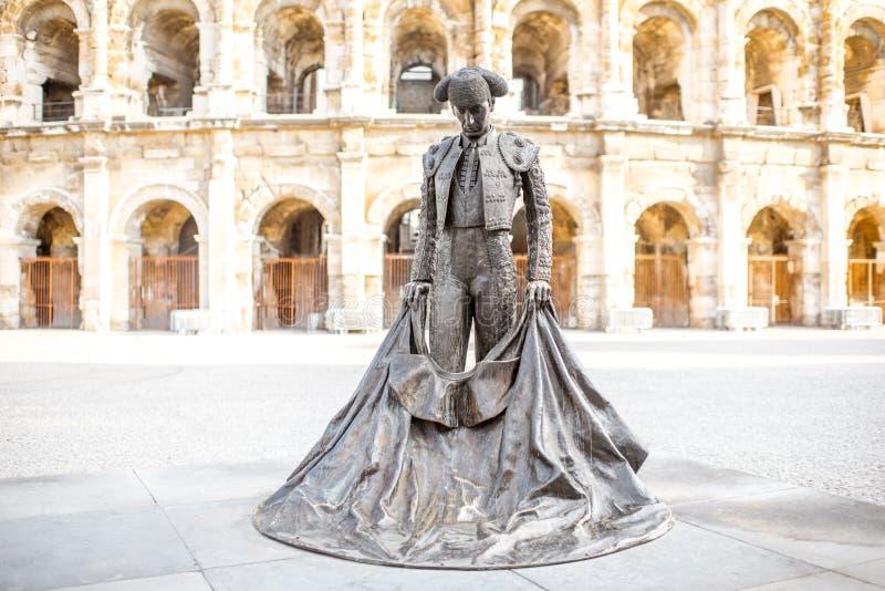 Cidade de Nimes em França do sul fotografia de stock royalty free
