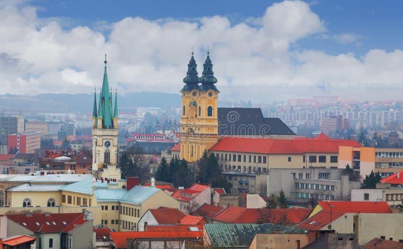 Cidade de Nitra fotografia de stock royalty free