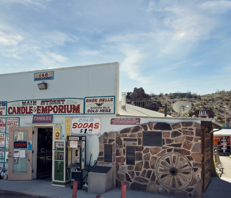 Cidade de Oatman, o Arizona EUA - 13 de março de 2019 foto de stock royalty free