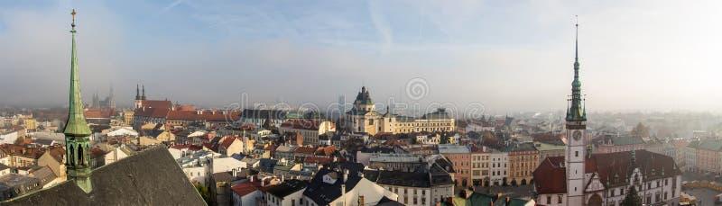 Cidade de Olomouc em novembro, República Checa fotografia de stock