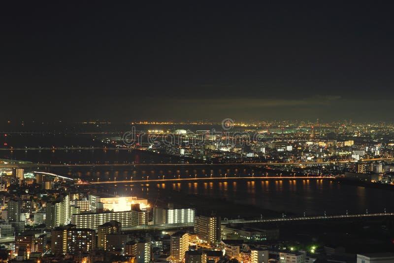 Cidade de Osaka na arquitetura da cidade de Japão imagem de stock