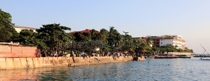 Cidade de pedra na ilha de zanzibar fotos de stock