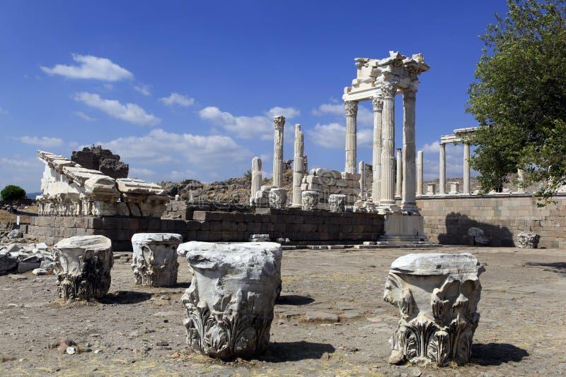 Cidade de Pergamon em Bergama, Turquia do grego clássico imagem de stock