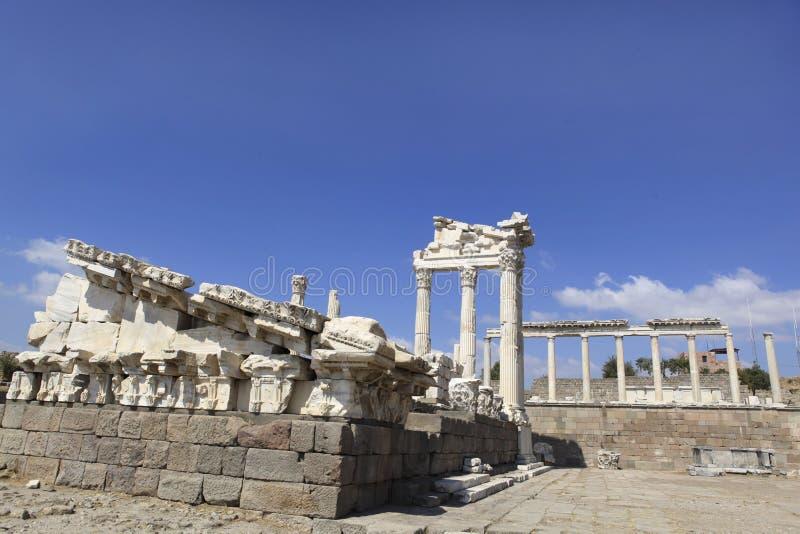 Cidade de Pergamon em Bergama, Turquia do grego clássico fotografia de stock