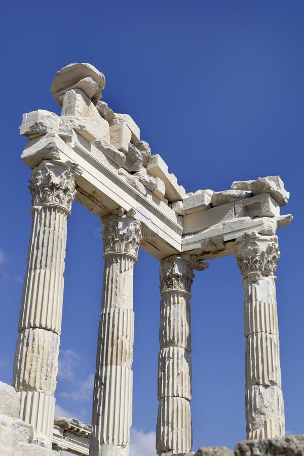 Cidade de Pergamon em Bergama, Turquia do grego clássico fotografia de stock royalty free