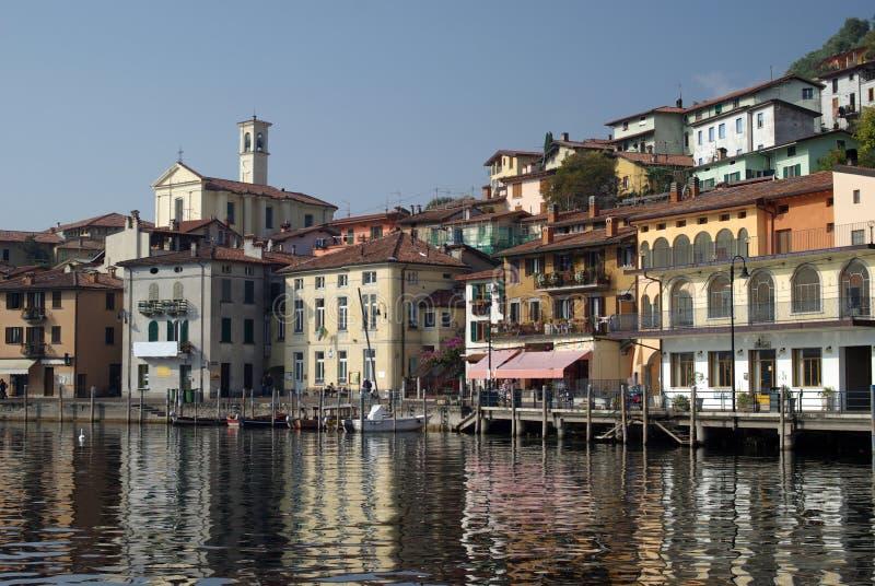 Cidade de Peschiera, lago Iseo, Italy fotografia de stock