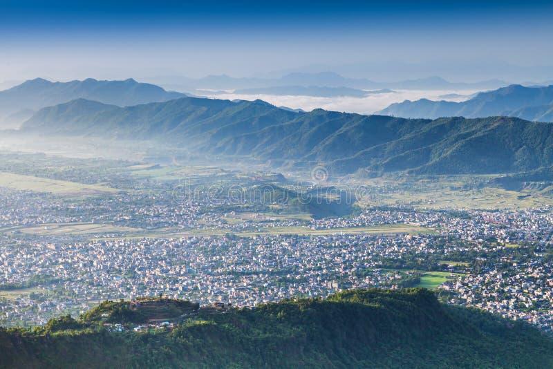 Cidade de Pokhara fotografia de stock royalty free