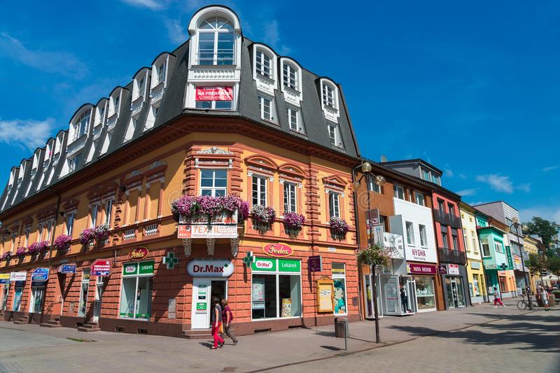 A cidade de Poprad em Eslováquia imagens de stock royalty free