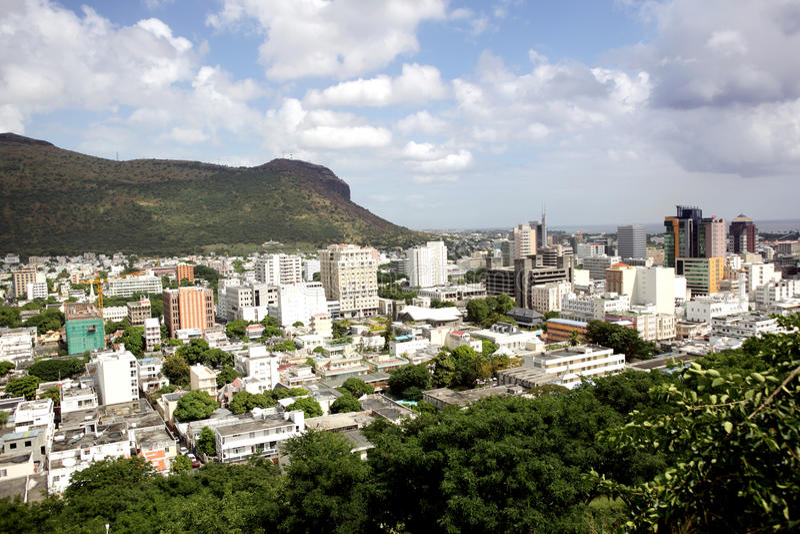 Cidade de Port Louis imagens de stock