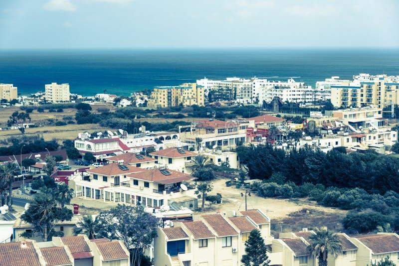 Cidade de Protaras, Chipre imagens de stock royalty free