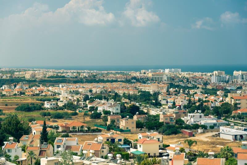 Cidade de Protaras, Chipre foto de stock royalty free