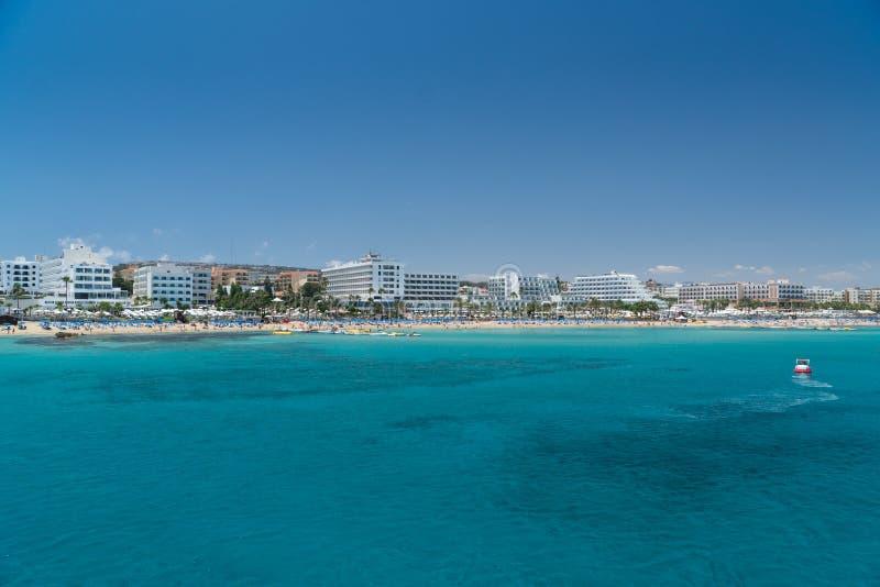 Cidade de Protaras, Chipre imagem de stock royalty free