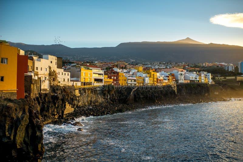 Cidade de Punta Brava na ilha de Tenerife foto de stock royalty free