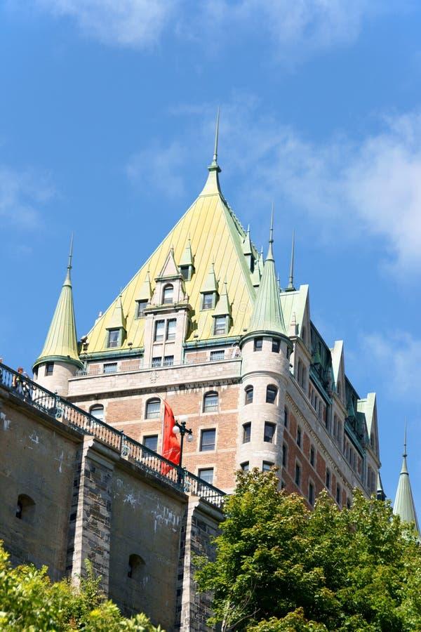 Hotel de Frontenac do castelo em Cidade de Quebec, Canadá imagens de stock