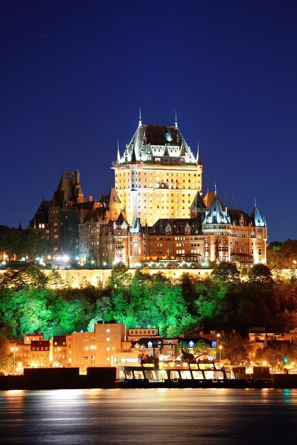 Cidade de Quebec na noite foto de stock