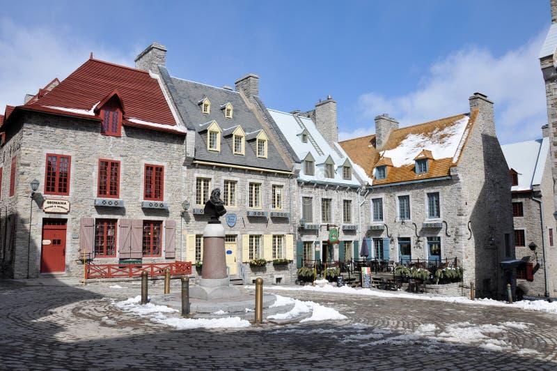 Cidade de Quebec velha, Quebeque, Canadá foto de stock