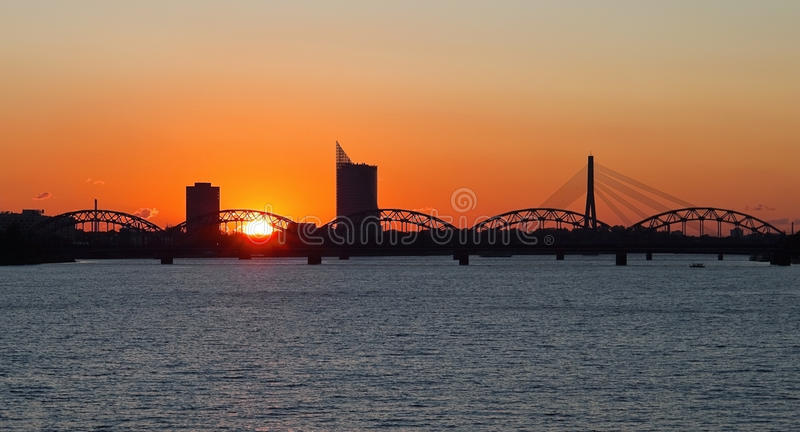 Cidade de Riga imagem de stock royalty free