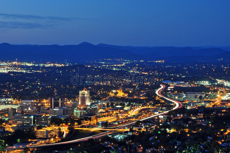 Cidade de Roanoke fotos de stock royalty free