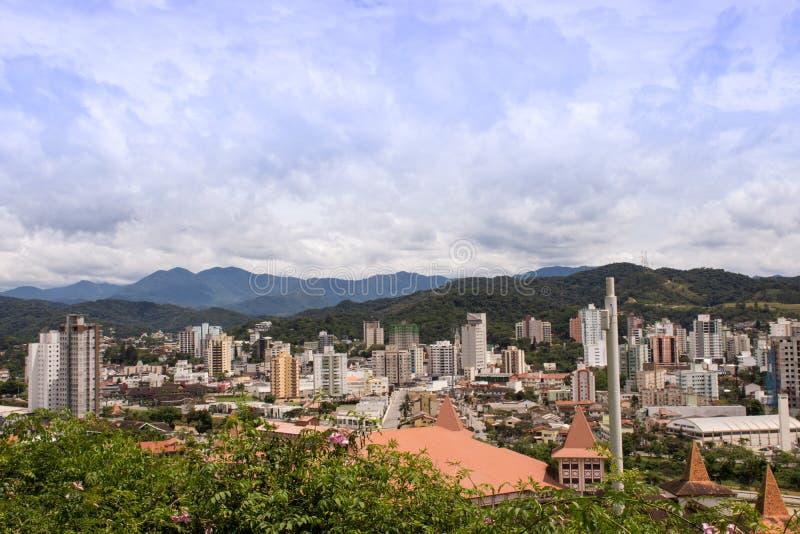 Cidade de Rude - Santa Catarina, Brasil foto de stock