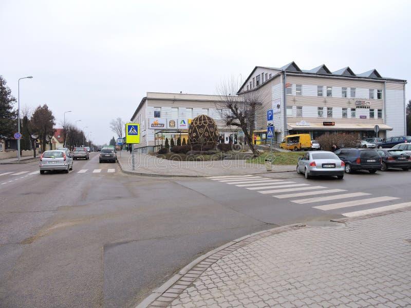 Cidade de Sakiai, Lituânia imagens de stock royalty free