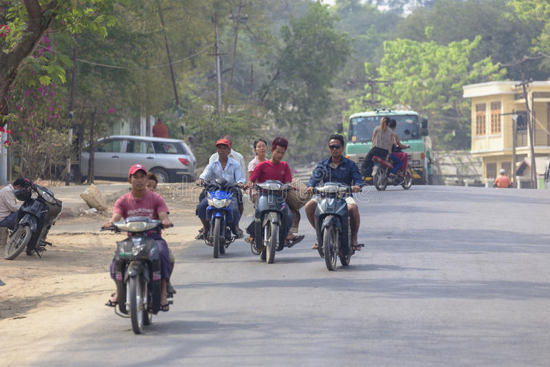 Cidade de Salay, Myanmar imagem de stock royalty free