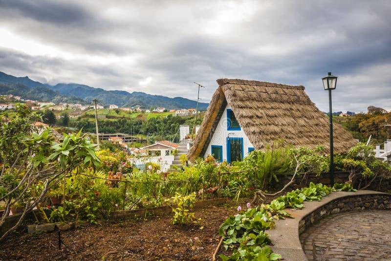 Cidade de Santana em Madeira fotografia de stock