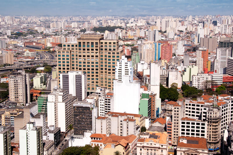 Cidade de Sao Paulo foto de stock