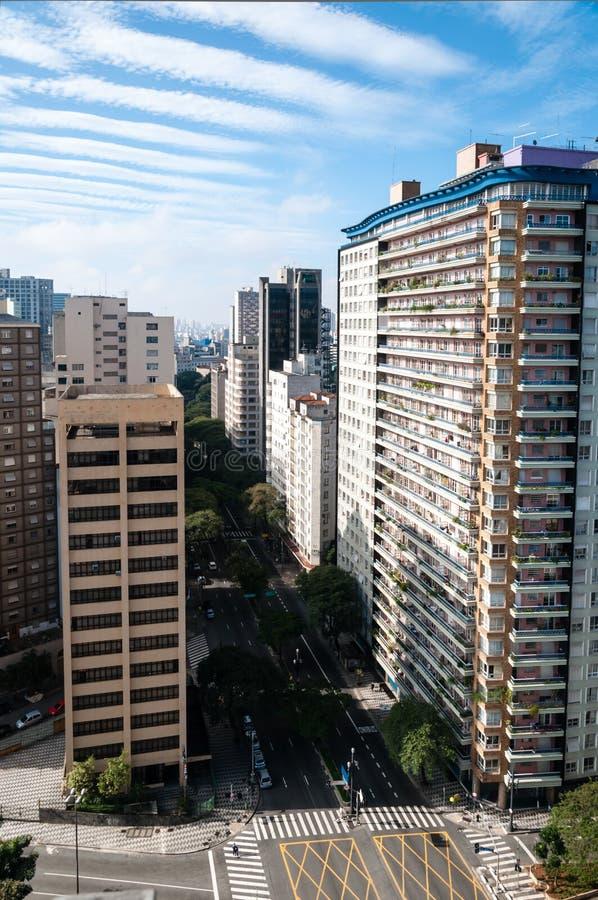 Cidade de Sao Paulo fotografia de stock