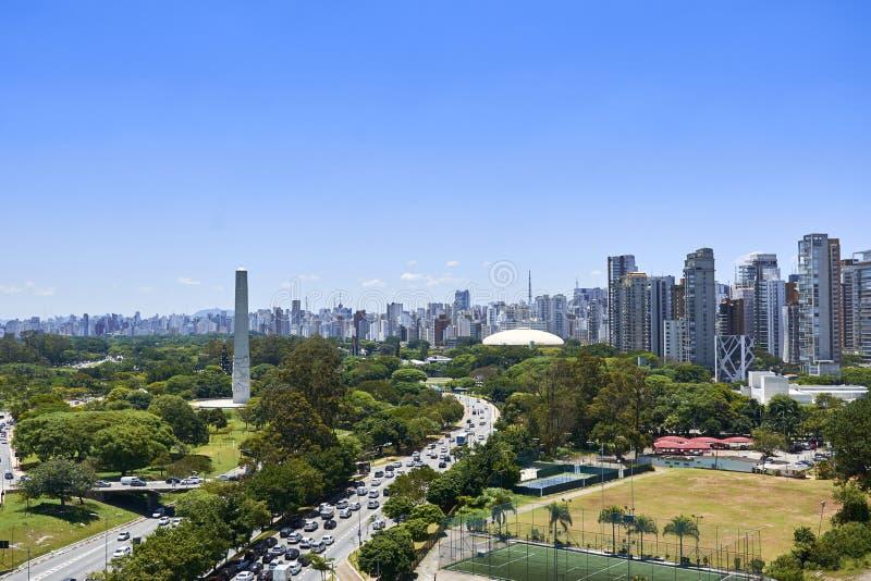 Cidade de Sao Paulo, Brasil Parque de Ibirapuera fotografia de stock