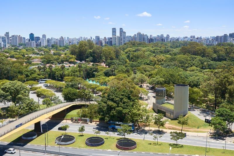 Cidade de Sao Paulo, Brasil Parque de Ibirapuera imagens de stock royalty free