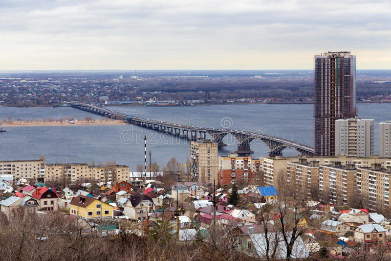 Cidade de Saratov. Rússia fotografia de stock royalty free