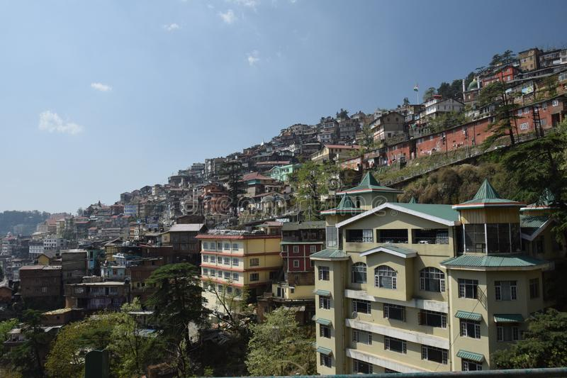 Cidade de Shimla fotografia de stock royalty free
