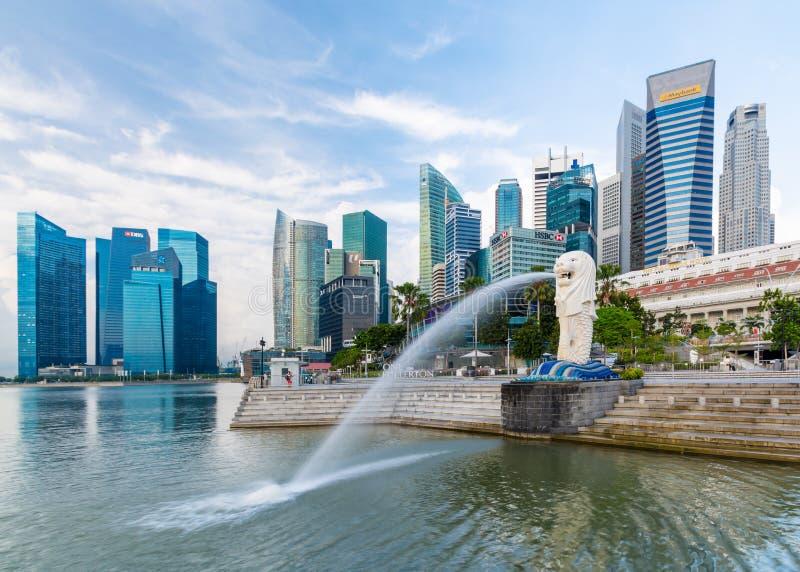 Cidade de Singapura - 13 de agosto de 2014 fotografia de stock