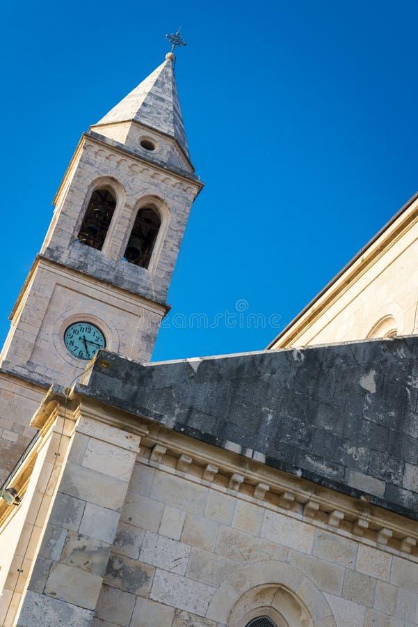 Cidade de Smokvica na opinião regional da ilha de Korcula, Croácia imagem de stock royalty free