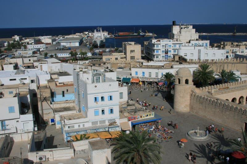 A cidade de Sousse do Ribat fotografia de stock royalty free