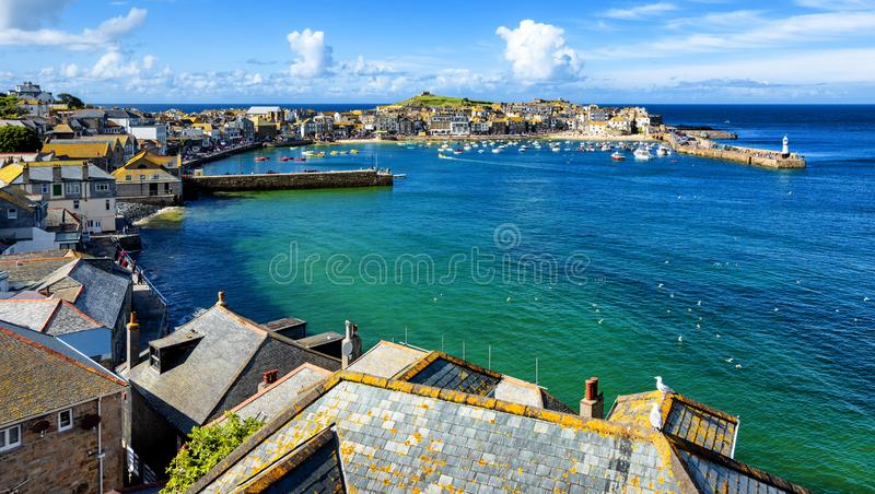 Cidade de St Ives, Cornualha, Reino Unido imagens de stock