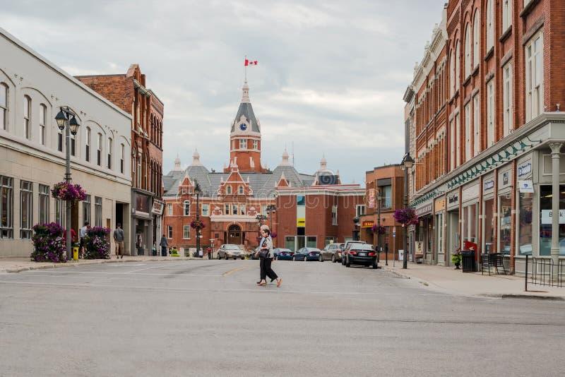 A cidade de Stratford em Ontário, Canadá imagens de stock royalty free