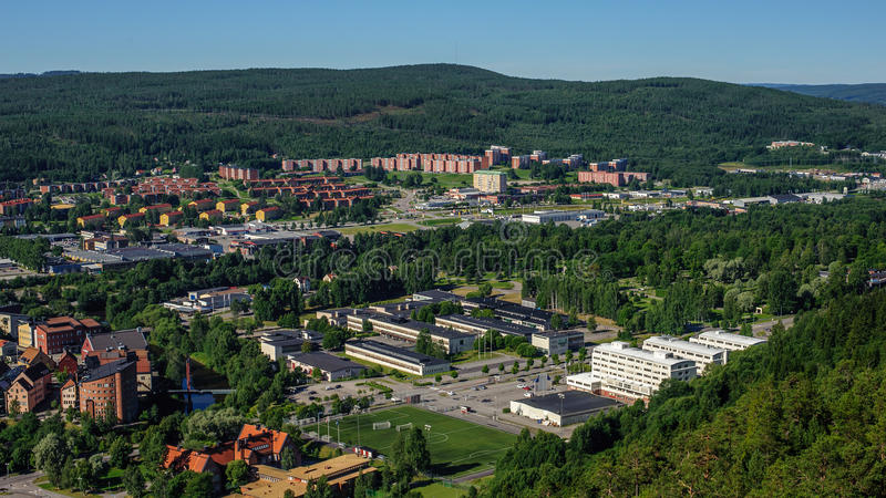 A cidade de Sundsvall, Suécia imagem de stock