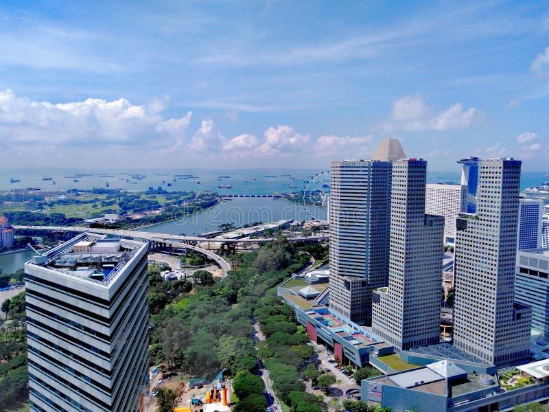 Cidade de Suntec em Marina Bay, Singapura imagem de stock royalty free