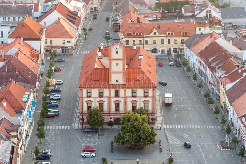 Cidade de Susice - foto aérea imagens de stock royalty free