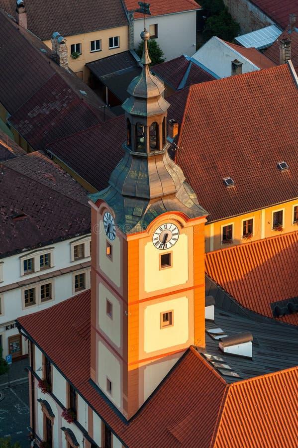 Cidade de Susice - foto aérea imagens de stock