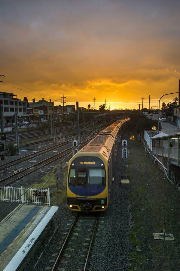 Cidade de Sydney do estação de caminhos-de-ferro, fotos de stock