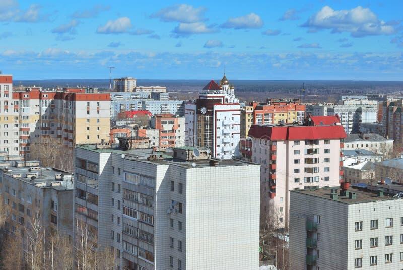 Cidade de Syktyvkar, república de Comi foto de stock