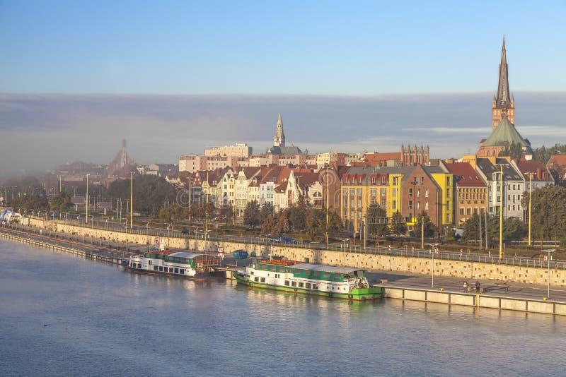 Cidade de Szczecin (Stettin). fotos de stock royalty free
