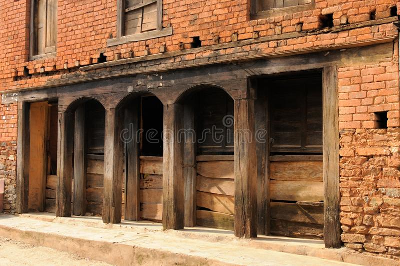 Cidade de Tansen em Nepal foto de stock
